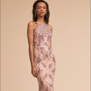 Beautiful Beholden Gown slight train lace overlay